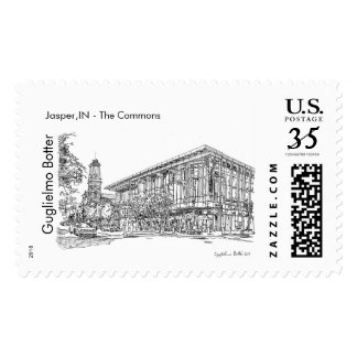Columbus, Indiana: The Commons Postage
