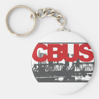 Columbus Basic Round Button Keychain