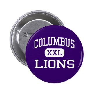 Columbus - Lions - Continuation - Downey Pinback Buttons