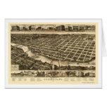 Columbus, mapa panorámico del GA - 1886 Felicitaciones