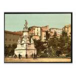 Columbus Monument, Genoa, Italy vintage Photochrom Postcard