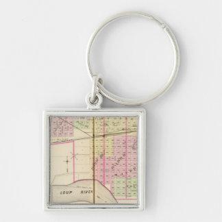 Columbus, Nebraska Silver-Colored Square Keychain