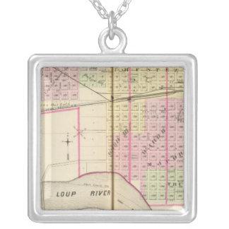 Columbus, Nebraska Square Pendant Necklace
