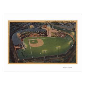 Columbus, OH - antena del béisbol rojo del pájaro Postal