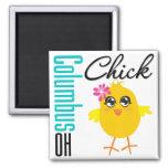 Columbus OH Chick Fridge Magnet