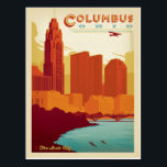 "Columbus, OH Postcard<br><div class=""desc"">Anderson Design Group is an award-winning illustration and design firm in Nashville,  Tennessee. Founder Joel Anderson directs a team of talented artists to create original poster art that looks like classic vintage advertising prints from the 1920s to the 1960s.</div>"
