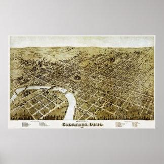 Columbus, Ohio 1872 Poster
