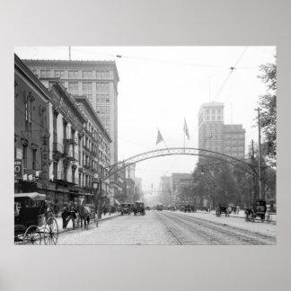 Columbus, Ohio - calle principal 1910 Impresiones