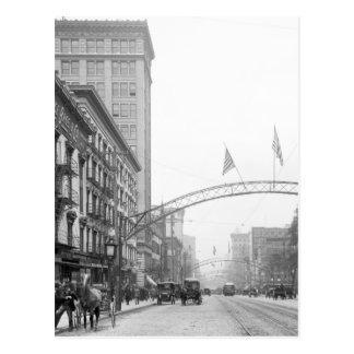 Columbus Ohio - calle principal 1910 Postal