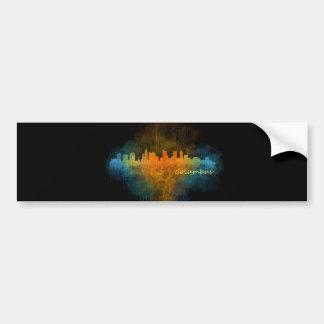 Columbus Ohio, City Skyline, v4 Bumper Sticker