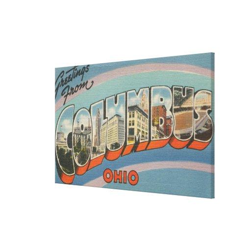 Columbus, Ohio - escenas grandes 4 de la letra Impresiones En Lienzo Estiradas