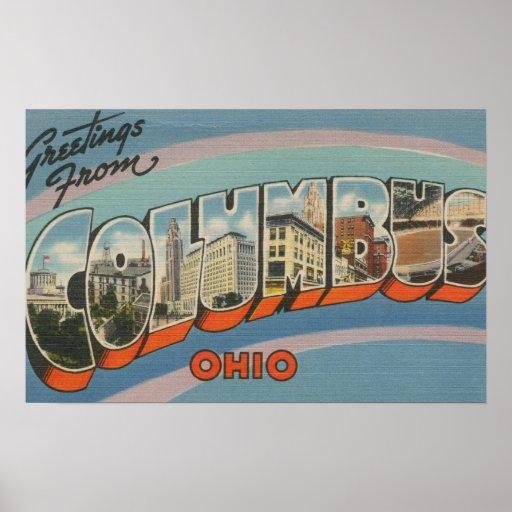 Columbus, Ohio - escenas grandes 4 de la letra Impresiones