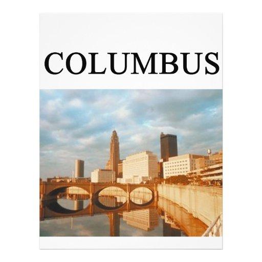 "COLUMBUS Ohio Folleto 8.5"" X 11"""