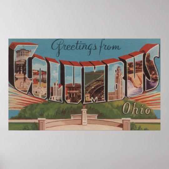Columbus, Ohio - Large Letter Scenes 2 Poster