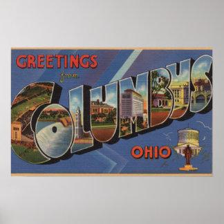 Columbus, Ohio - Large Letter Scenes 3 Poster