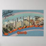 Columbus, Ohio - Large Letter Scenes 4 Poster