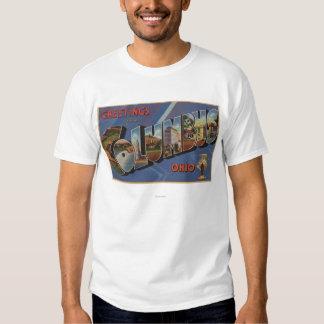 Columbus, Ohio - Large Letter Scenes T-Shirt