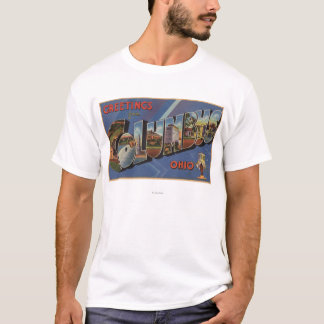 Columbus, Ohio - Large Letter Scenes T-Shirt