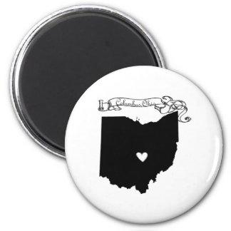 Columbus Ohio 2 Inch Round Magnet