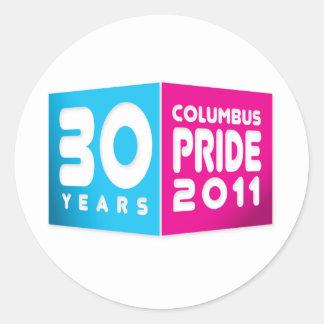Columbus Ohio Pride 2011 Classic Round Sticker