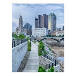 columbus ohio skyline cityscape postcard