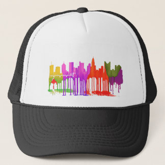COLUMBUS, OHIO SKYLINE PUDDLES - TRUCKER HAT