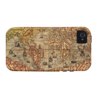Columbus Parchment Old World Map iPhone 4 Case