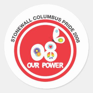 Columbus Pride 2008 Pride Circle Sticker