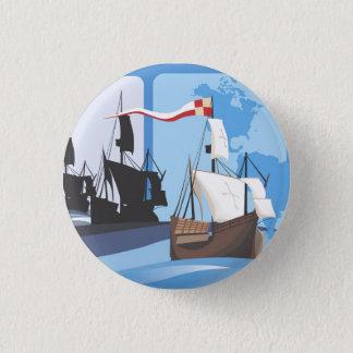 Columbus Sailing the Ocean Blue - Pinback Button