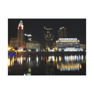 Columbus skyline canvas stretched canvas prints