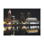 Columbus skyline canvas canvas print