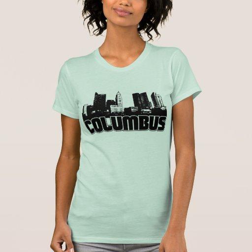 Columbus Skyline T Shirts