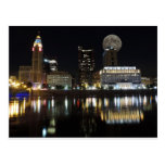 Columbus Skyline with the Moon Postcard