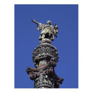Columbus statue, Barcelona Postcard