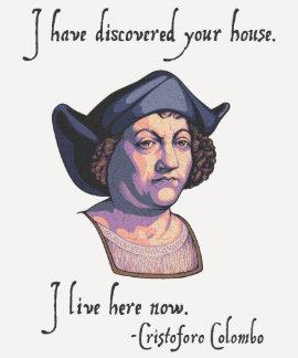 Columbus su casa camiseta