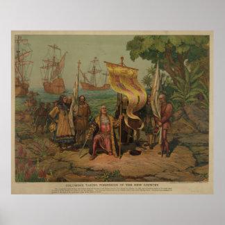 Columbus Taking Possession [1893] Poster