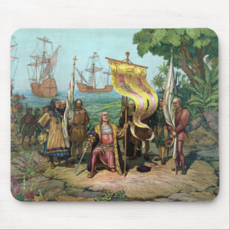 Columbus Taking Possession Of The New Country Mousepads