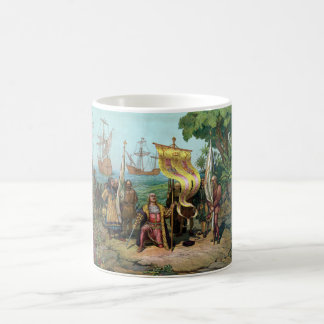 Columbus Taking Possession Of The New Country Coffee Mugs