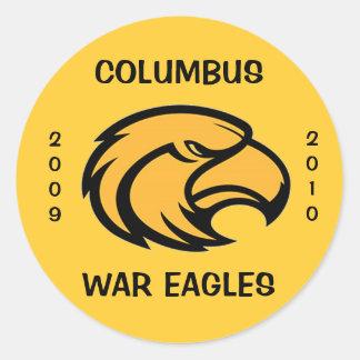 COLUMBUS WAR EAGLES STICKER 2009-2010
