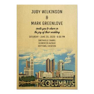 Columbus Wedding Invitation Ohio
