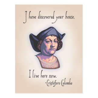 Columbus Your House Postcard