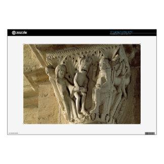 Column Capital, depicting St Benedict performing a Laptop Skin