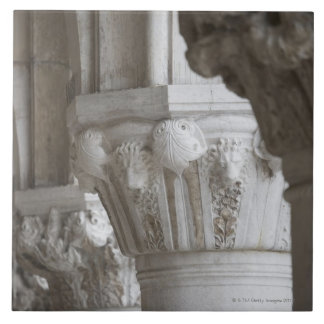 Column detail of the Doges' Palace Venice Italy Ceramic Tile
