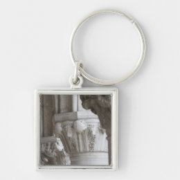 Column detail of the Doges' Palace Venice Italy Keychain