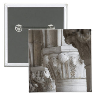 Column detail of the Doges' Palace Venice Italy Pinback Button