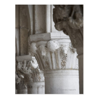 Column detail of the Doges' Palace Venice Italy Postcard