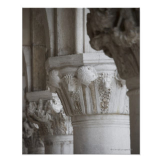 Column detail of the Doges' Palace Venice Italy Poster