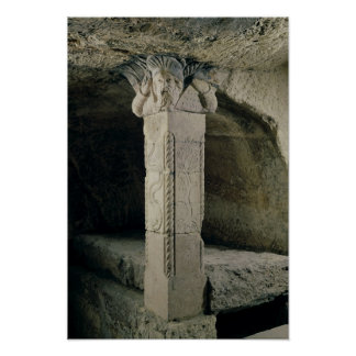 Column from the crypt, with the head of Moses Poster