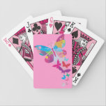 "Column of Painted Butterflies Design Playing Cards<br><div class=""desc"">Column of Painted Butterflies Design Playing Cards</div>"
