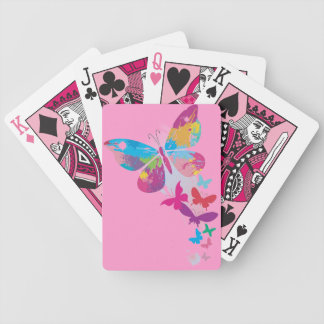 Column of Painted Butterflies Design Playing Cards
